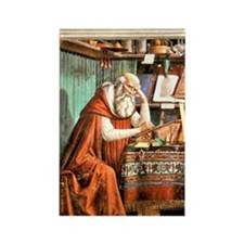 Saint Jerome in his Study Rectangle Magnet