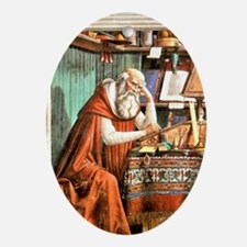 Saint Jerome in his Study Oval Ornament