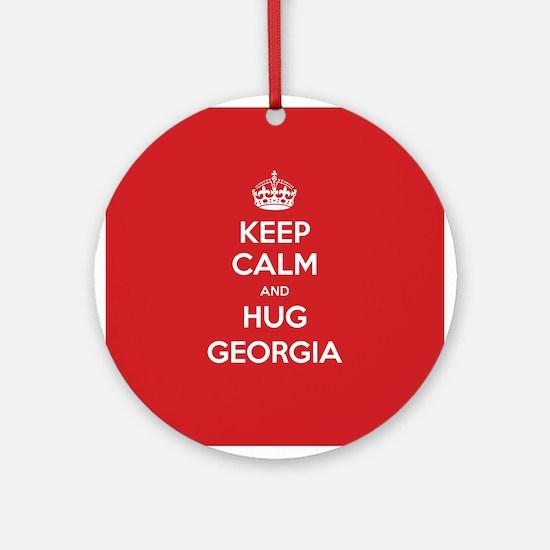 Hug Georgia Ornament (Round)
