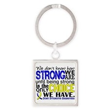 DS How Strong We Are Square Keychain