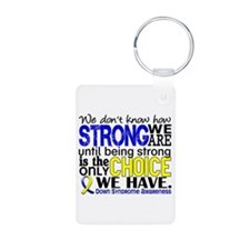 DS How Strong We Are Aluminum Photo Keychain