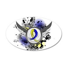 DS Grunge Ribbon Wings Wall Decal