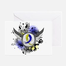 DS Grunge Ribbon Wings Greeting Card