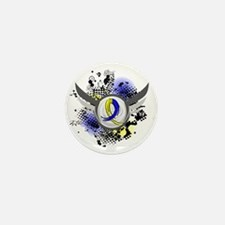 DS Grunge Ribbon Wings Mini Button (10 pack)