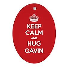 Hug Gavin Ornament (Oval)