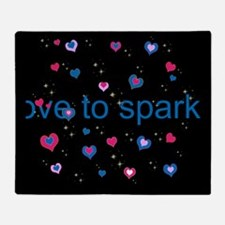Cute Girly LOVE TO SPARKLE! Throw Blanket