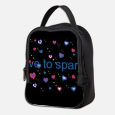 Cute Girly LOVE TO SPARKLE! Neoprene Lunch Bag