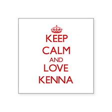 Keep Calm and Love Kenna Sticker