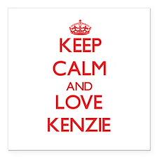 "Keep Calm and Love Kenzie Square Car Magnet 3"" x 3"