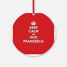 Hug Francesca Ornament (Round)