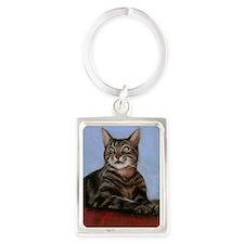 tiger cat Portrait Keychain