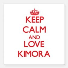 "Keep Calm and Love Kimora Square Car Magnet 3"" x 3"