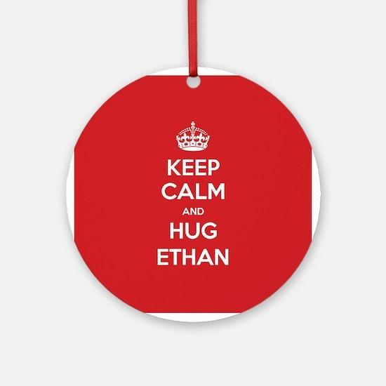 Hug Ethan Ornament (Round)