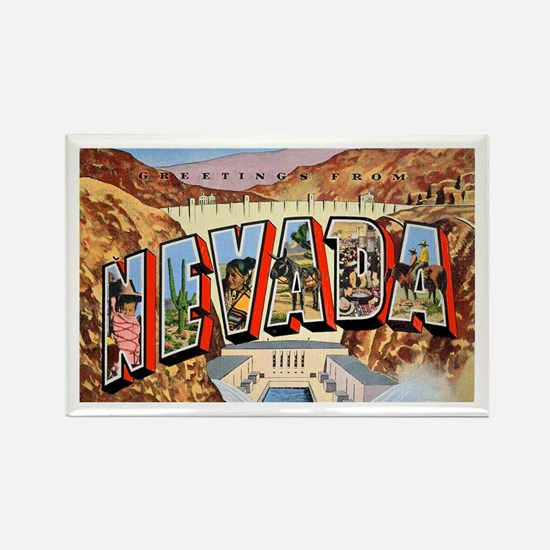 Nevada Greetings Rectangle Magnet