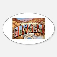 Nevada Greetings Oval Decal