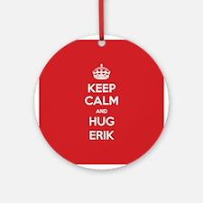 Hug Erik Ornament (Round)