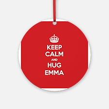 Hug Emma Ornament (Round)