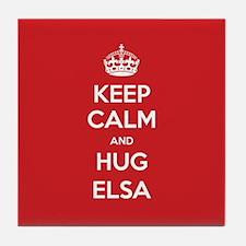 Hug Elsa Tile Coaster