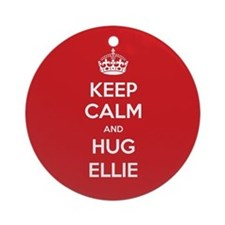 Hug Ellie Ornament (Round)