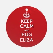 Hug Eliza Ornament (Round)