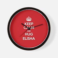 Hug Elisha Wall Clock