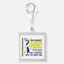 DS Bravest Hero Silver Square Charm