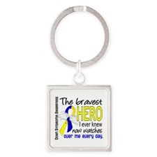 DS Bravest Hero Square Keychain