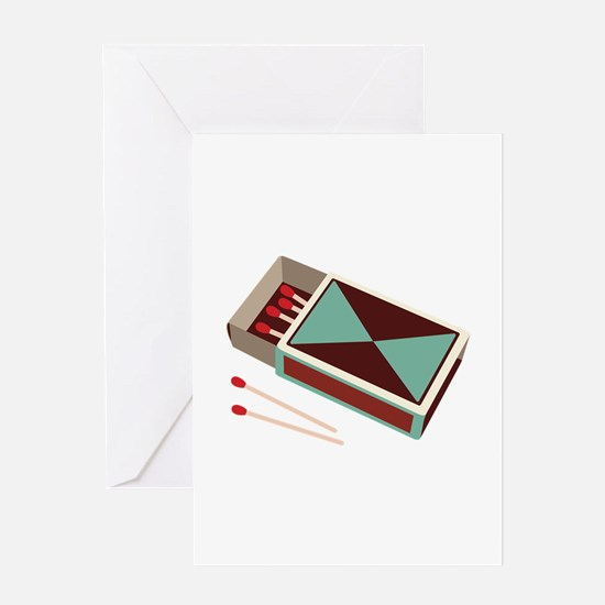 Matches Box Fire Greeting Cards