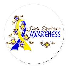 DS Awareness 6 Round Car Magnet