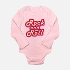 Pink Rock and Roll Long Sleeve Infant Bodysuit
