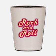 Pink Rock and Roll Shot Glass
