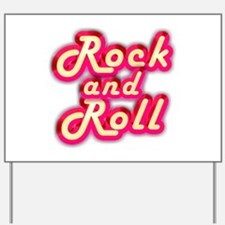 Pink Rock and Roll Yard Sign