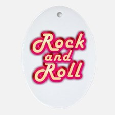 Pink Rock and Roll Ornament (Oval)