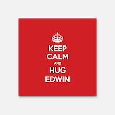 Hug Edwin Sticker