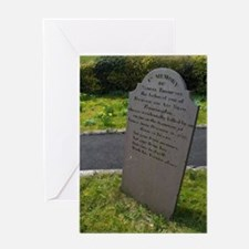 Headstone with epitaph Greeting Card