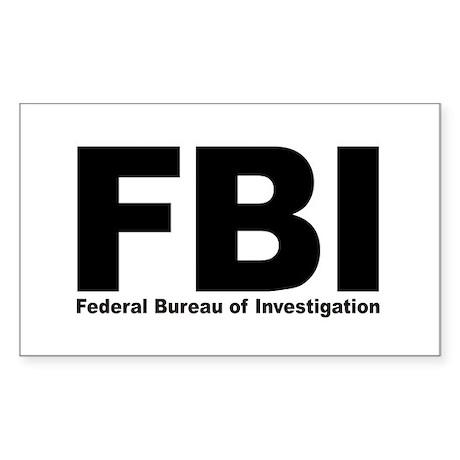 FBI Rectangle Sticker