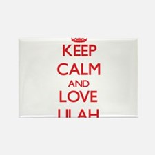 Keep Calm and Love Lilah Magnets