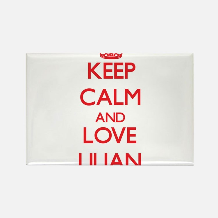 Keep Calm and Love Lilian Magnets
