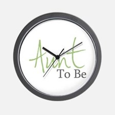 Aunt To Be (Green Script) Wall Clock