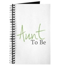 Aunt To Be (Green Script) Journal