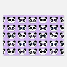 Cute Panda Expressions Pa Postcards (Package of 8)