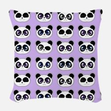 Cute Panda Expressions Pattern Woven Throw Pillow
