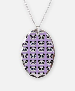 Cute Panda Expressions Pattern Necklace