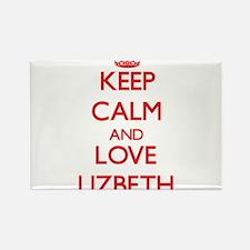Keep Calm and Love Lizbeth Magnets
