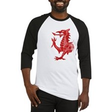 Welsh Dragon Rampant Baseball Jersey
