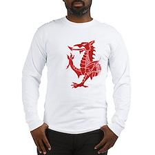 Welsh Dragon Rampant Long Sleeve T-Shirt
