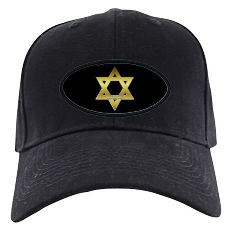 Gold Star of David Black Cap