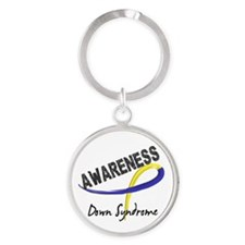 DS Awareness 3 Round Keychain