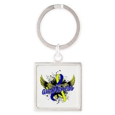 DS Awareness 16 Square Keychain