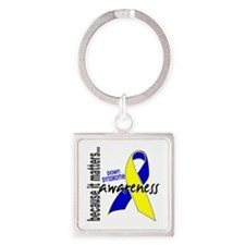 DS Awareness 1 Square Keychain